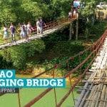 Crossing the Tigbao Hanging Bridge, Bohol