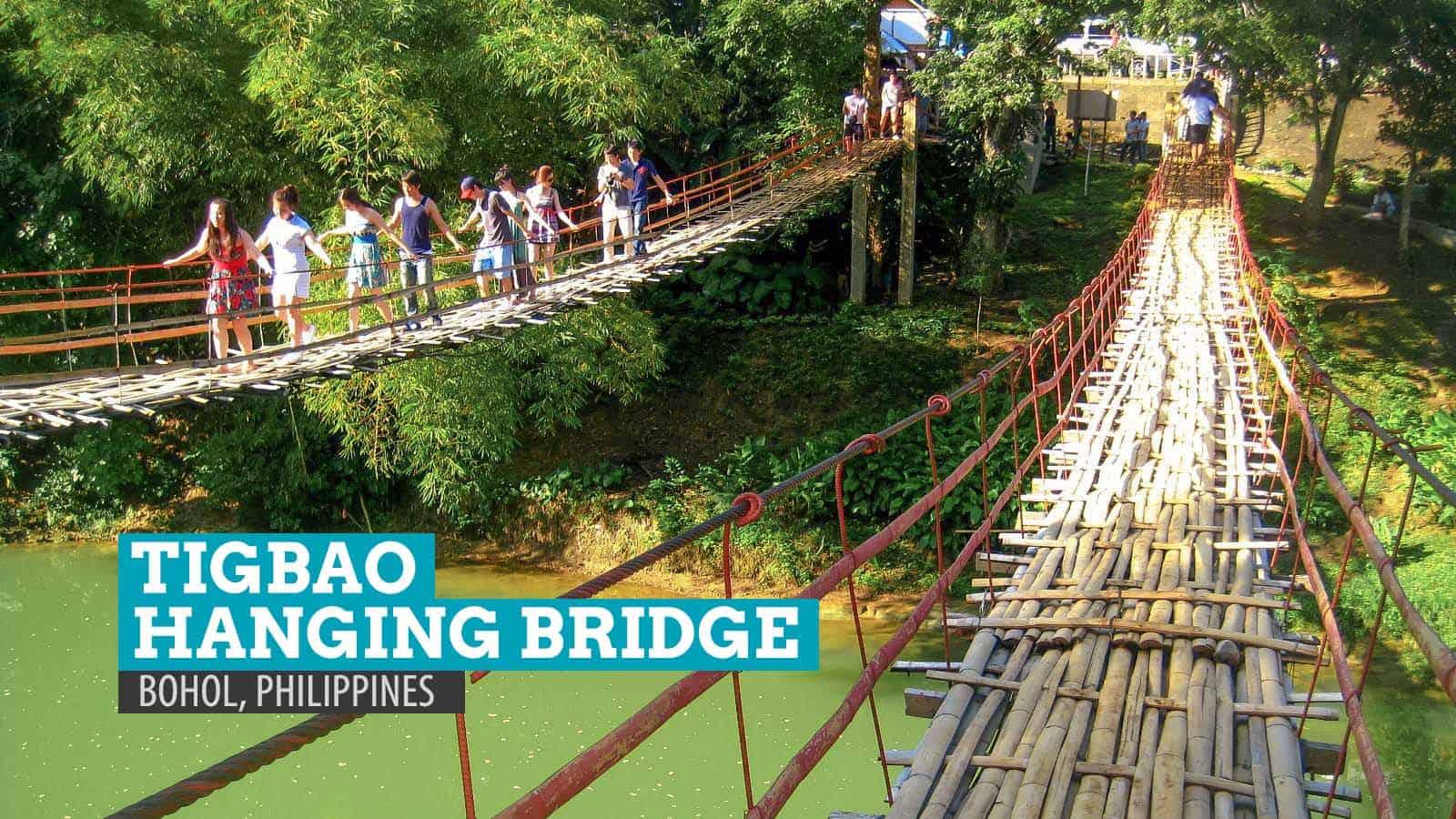 Crossing The Tigbao Hanging Bridge Bohol The Poor Traveler Blog