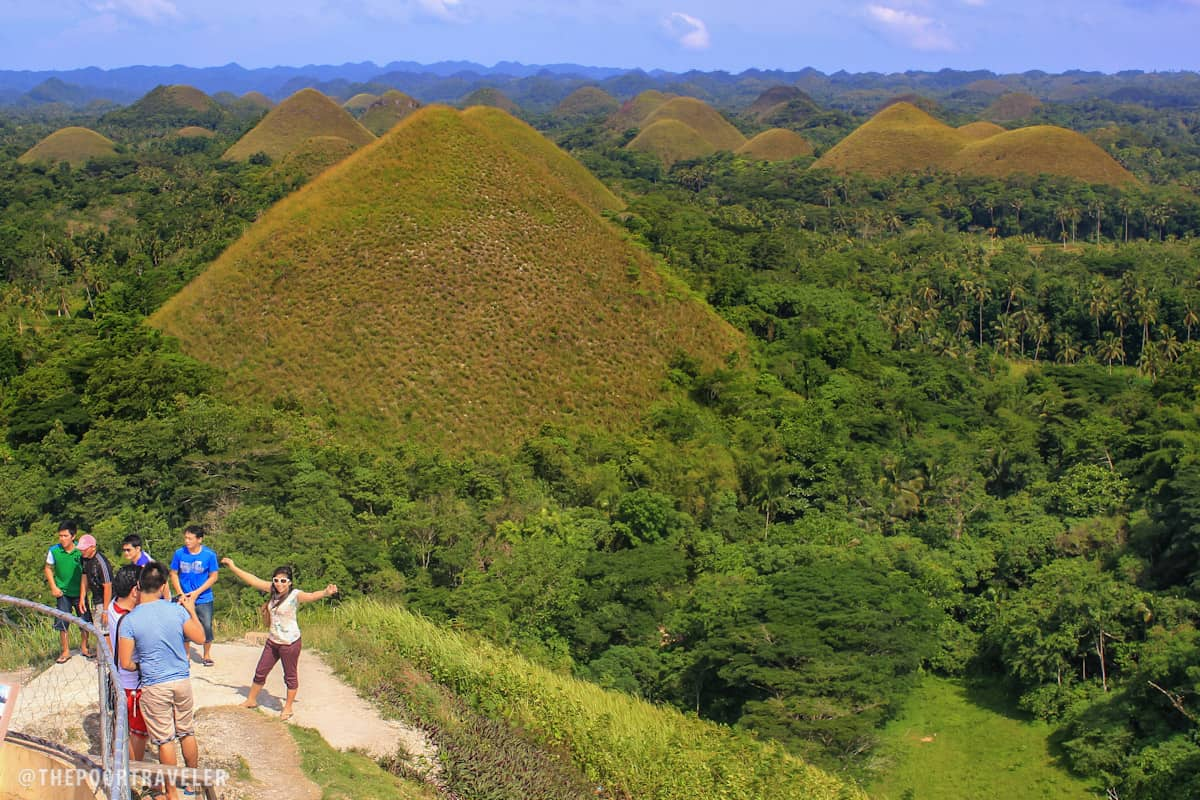 Chocolate Hills as seen from the viewdeck