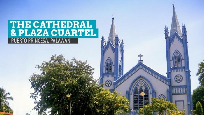 Plaza Cuartel and the Puerto Princesa Cathedral, Palawan, Philippines