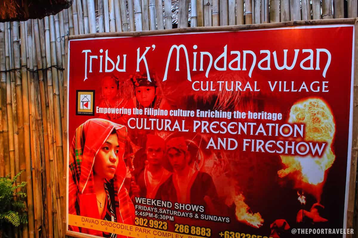 Tribu K' MIndanawan Schedule of Performances