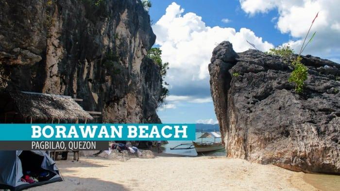 Borawan Beach in Pagbilao, Quezon