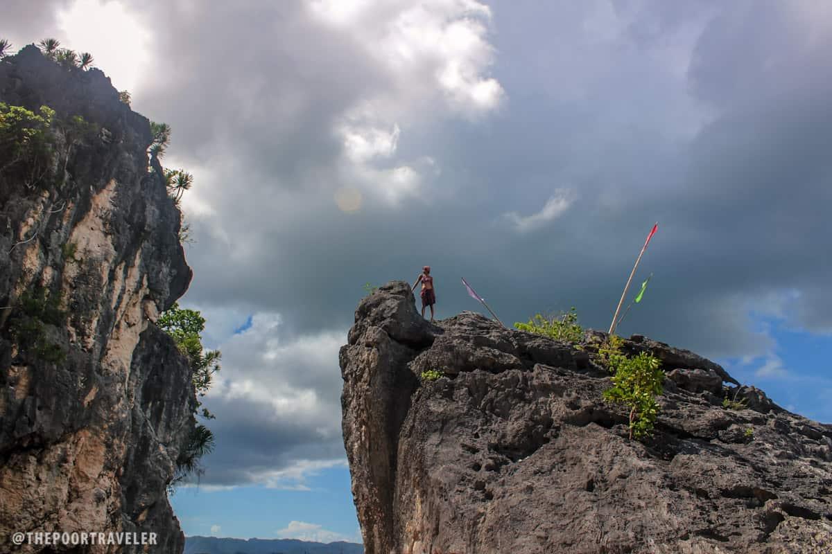 Towering cliffs!