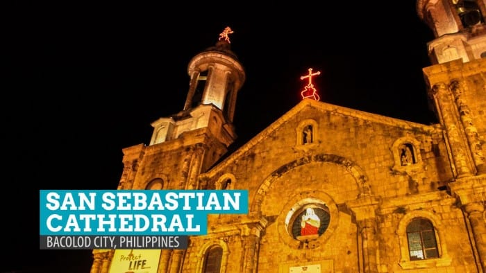 San Sebastian Cathedral from Outside the Gates: Bacolod City, Philippines