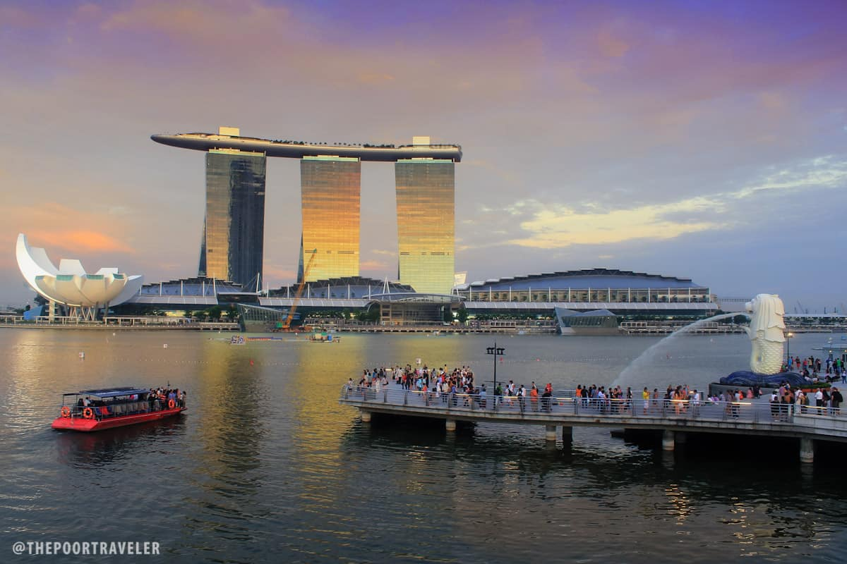 Merlion Park facing Marina Bay Sands