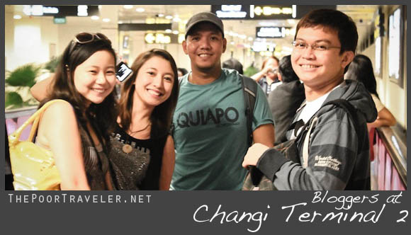 bloggers at changi terminal 2