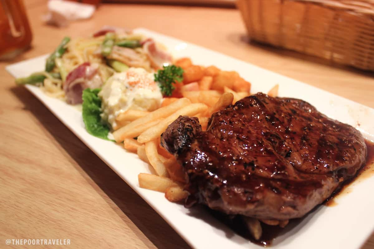 pasta de waraky ribeye steak