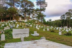 Mission Compound Cemetery on top of a hill