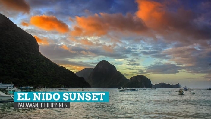 Sunset Walk in El Nido, Palawan