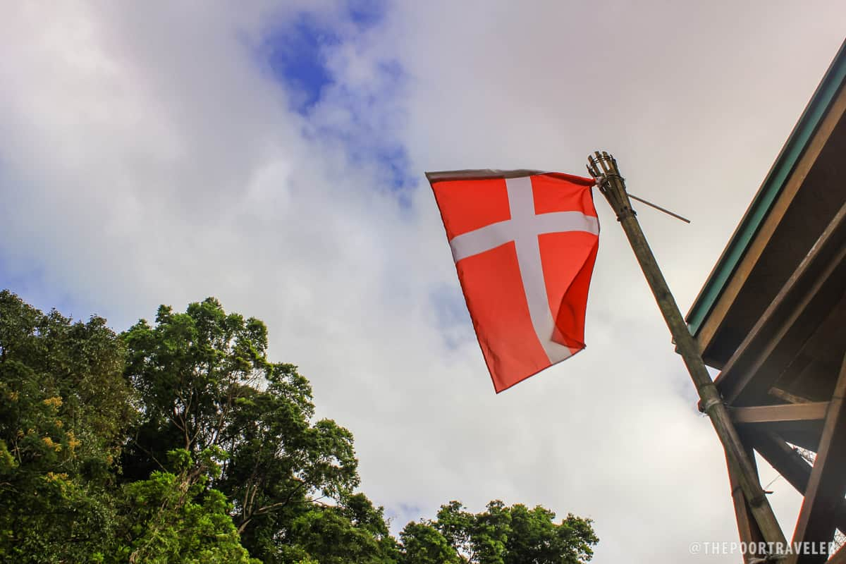 The Danish flag dancing with the wind