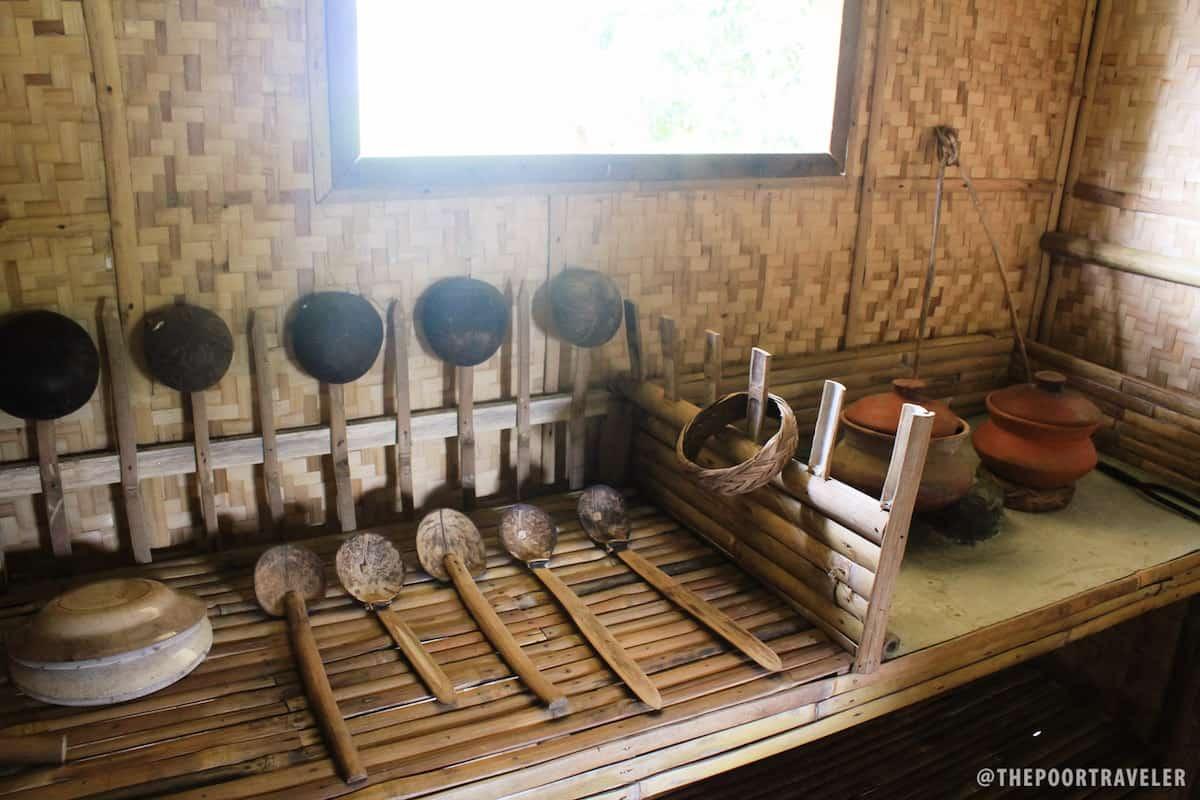 Inside the house replica
