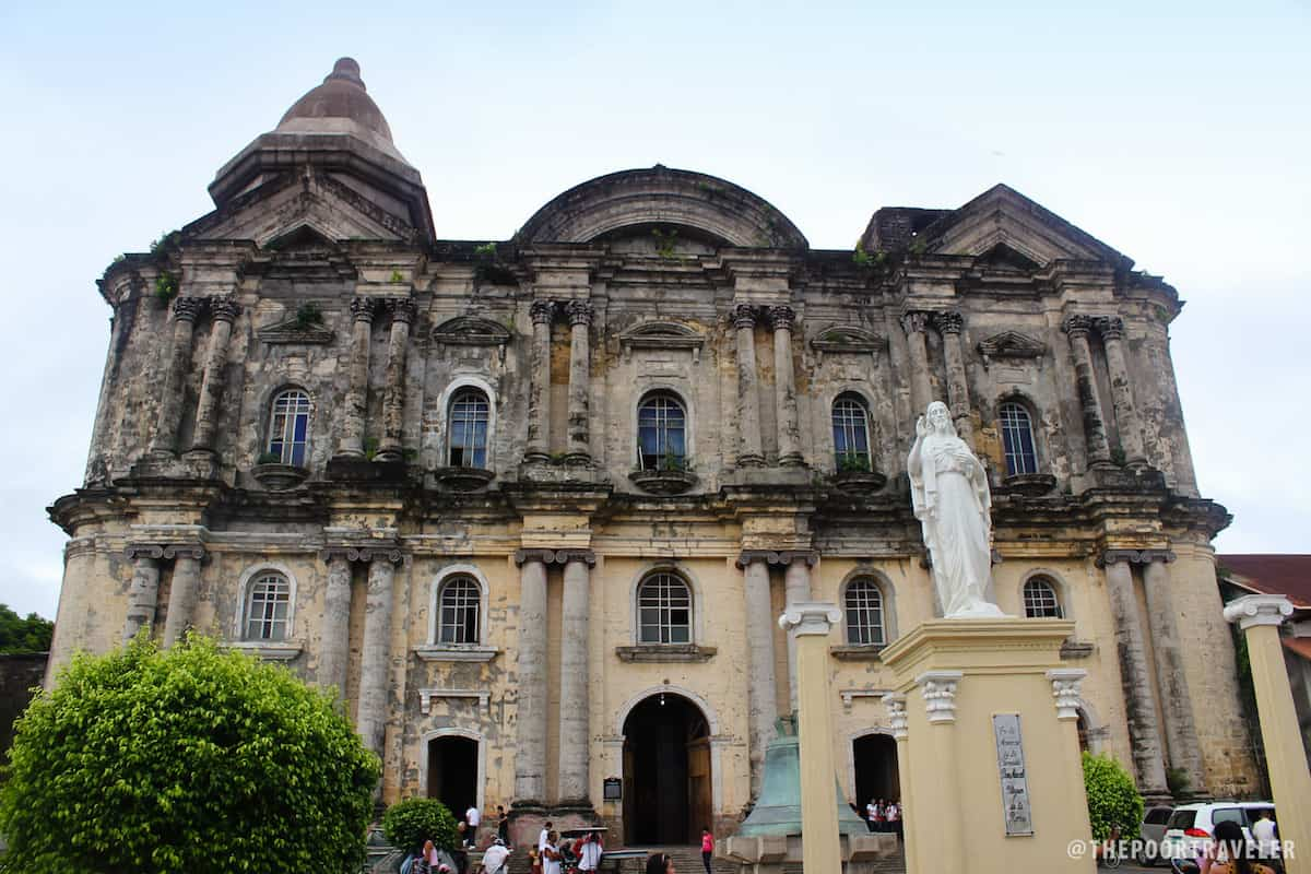 Facade of the Basilica of St. Martin de Tours in Taal, Batangas