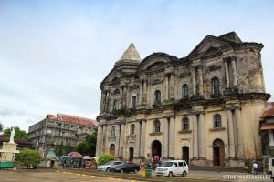 The massive Taal Basilica towering over the town