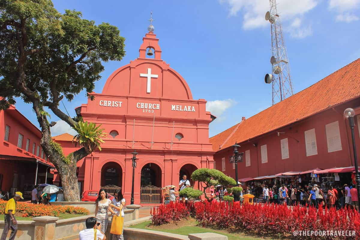Christ Church Melaka at the city's Dutch Square