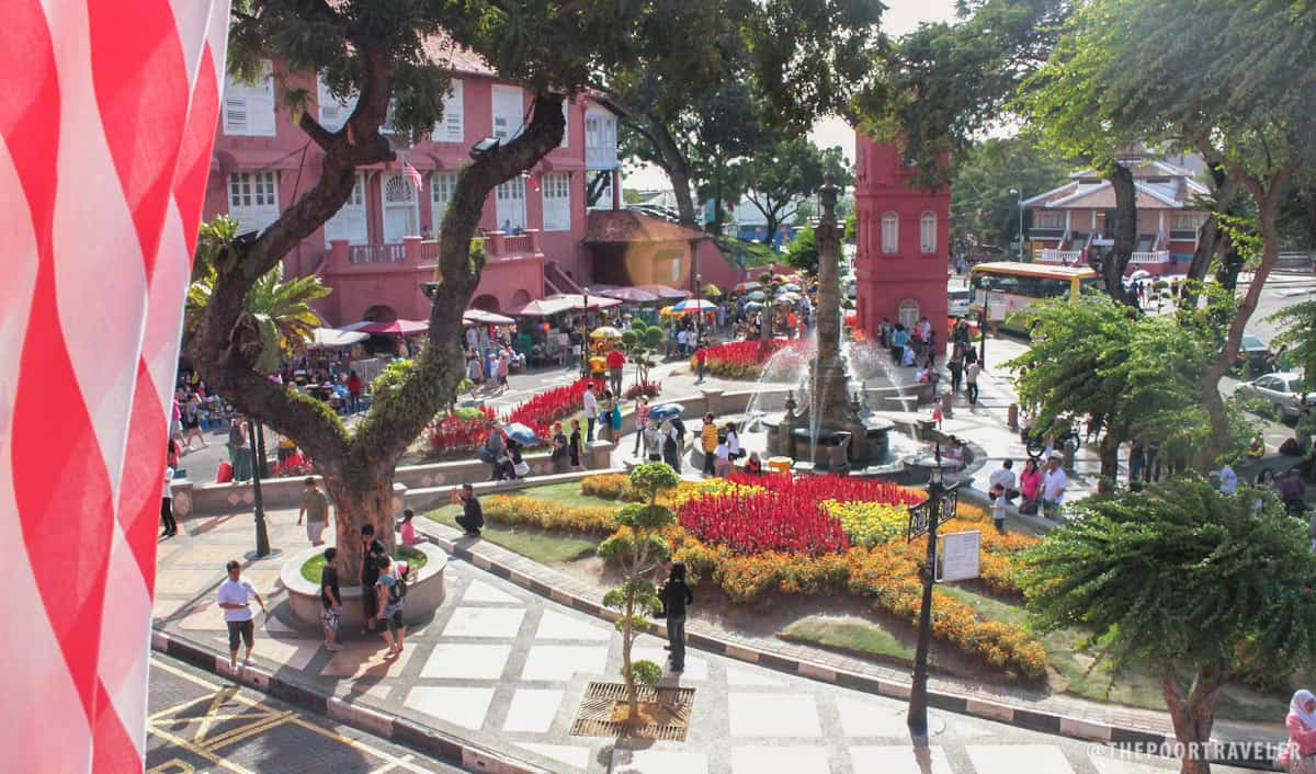 Malacca Dutch Square viewed from the window of the Art Gallery