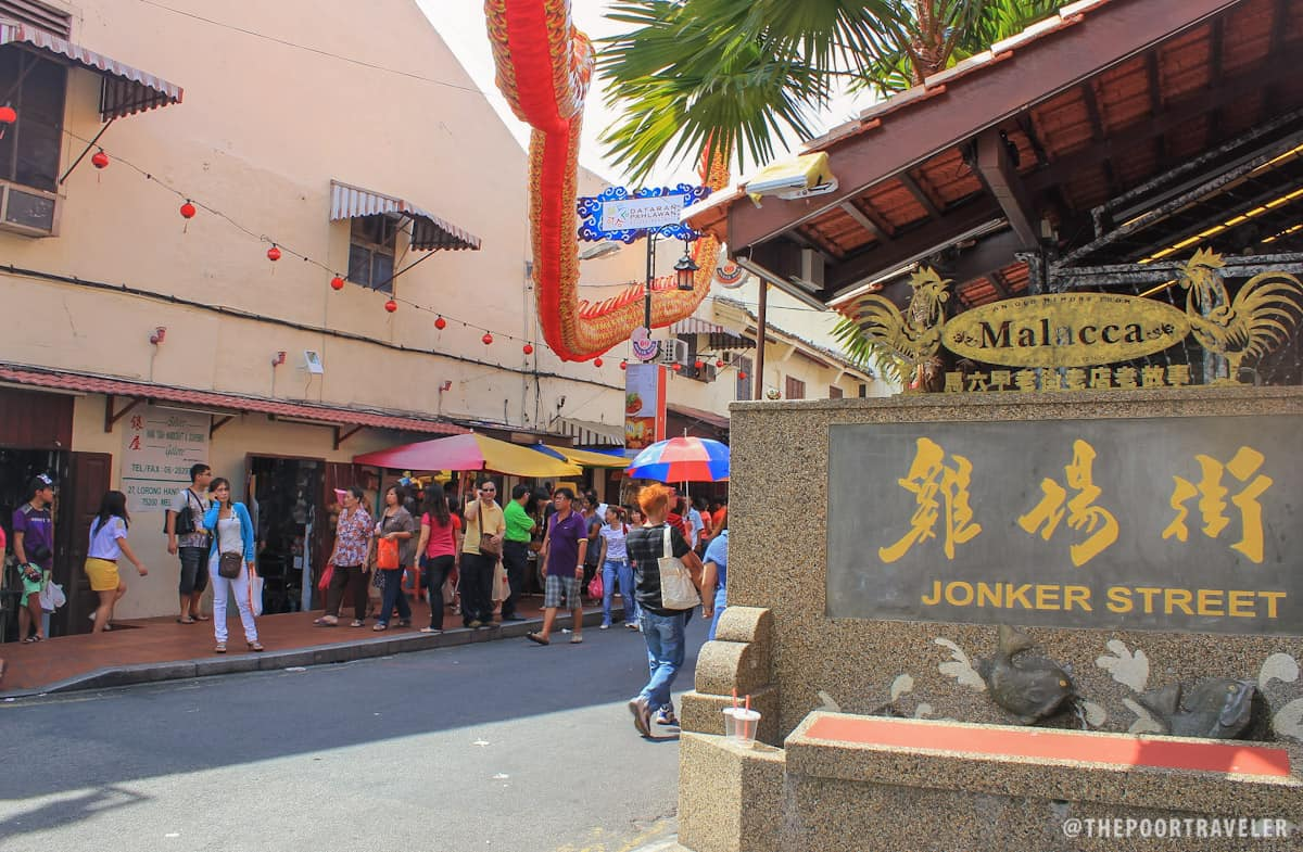 Mouth of Jonker Street Malacca