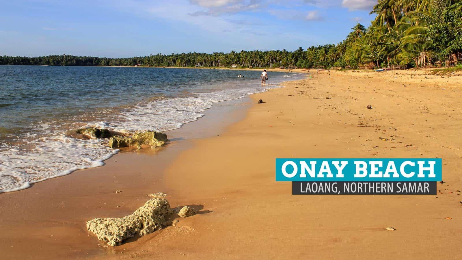 Onay Beach in Laoang Island, Northern Samar, Philippines