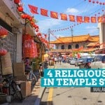 Walking in Harmony: 4 Religious Places to Visit at Temple Street, Malacca, Malaysia