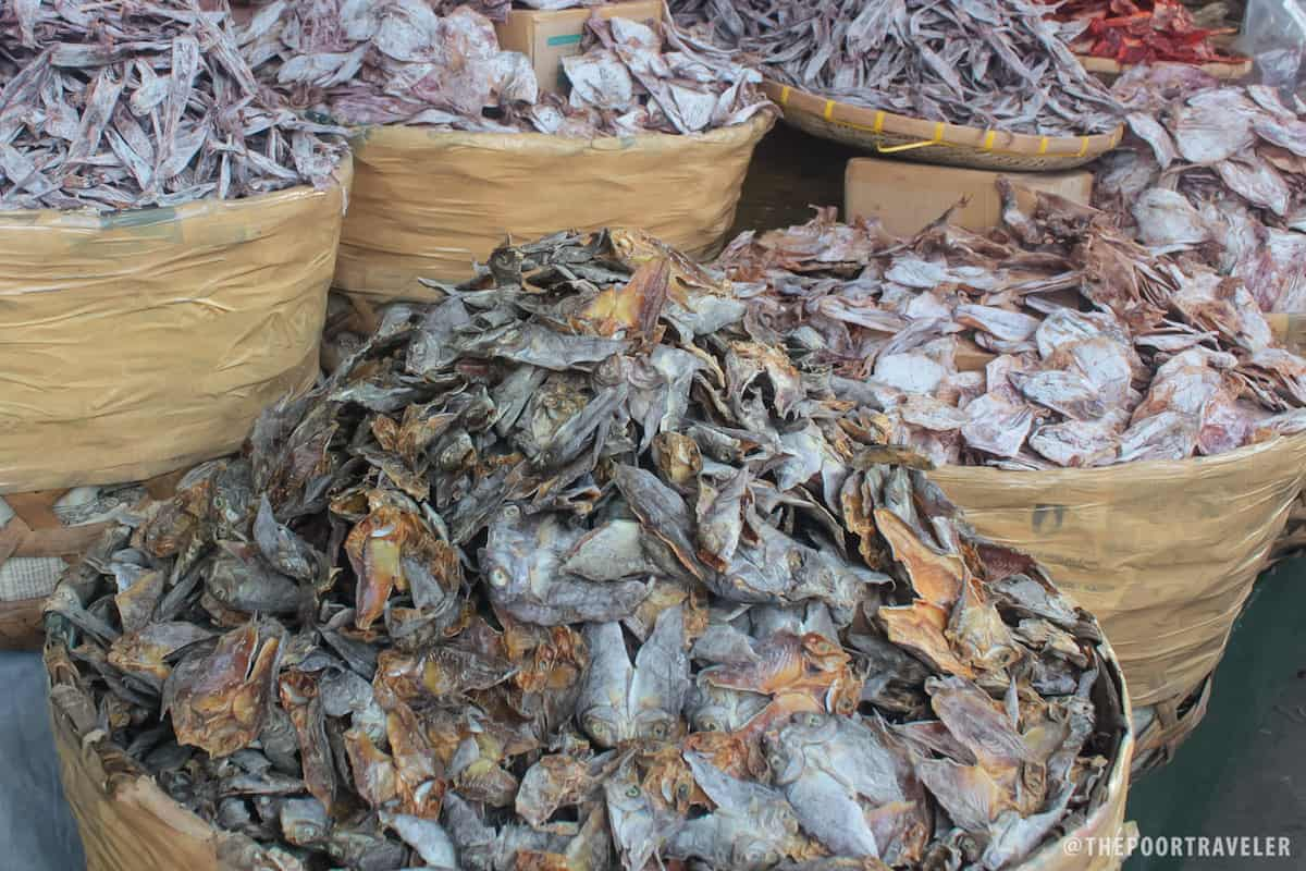 Mounds and mounds of dried fish at Tabo-an Market!