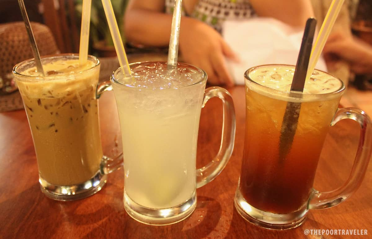 Ice White Coffee (RM 3.9), Barley Drink (3.9) and Ice Lemon Tea