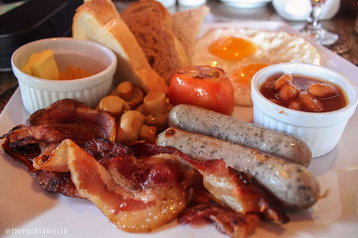 English Breakfast at the Palms of Boracay Restaurant
