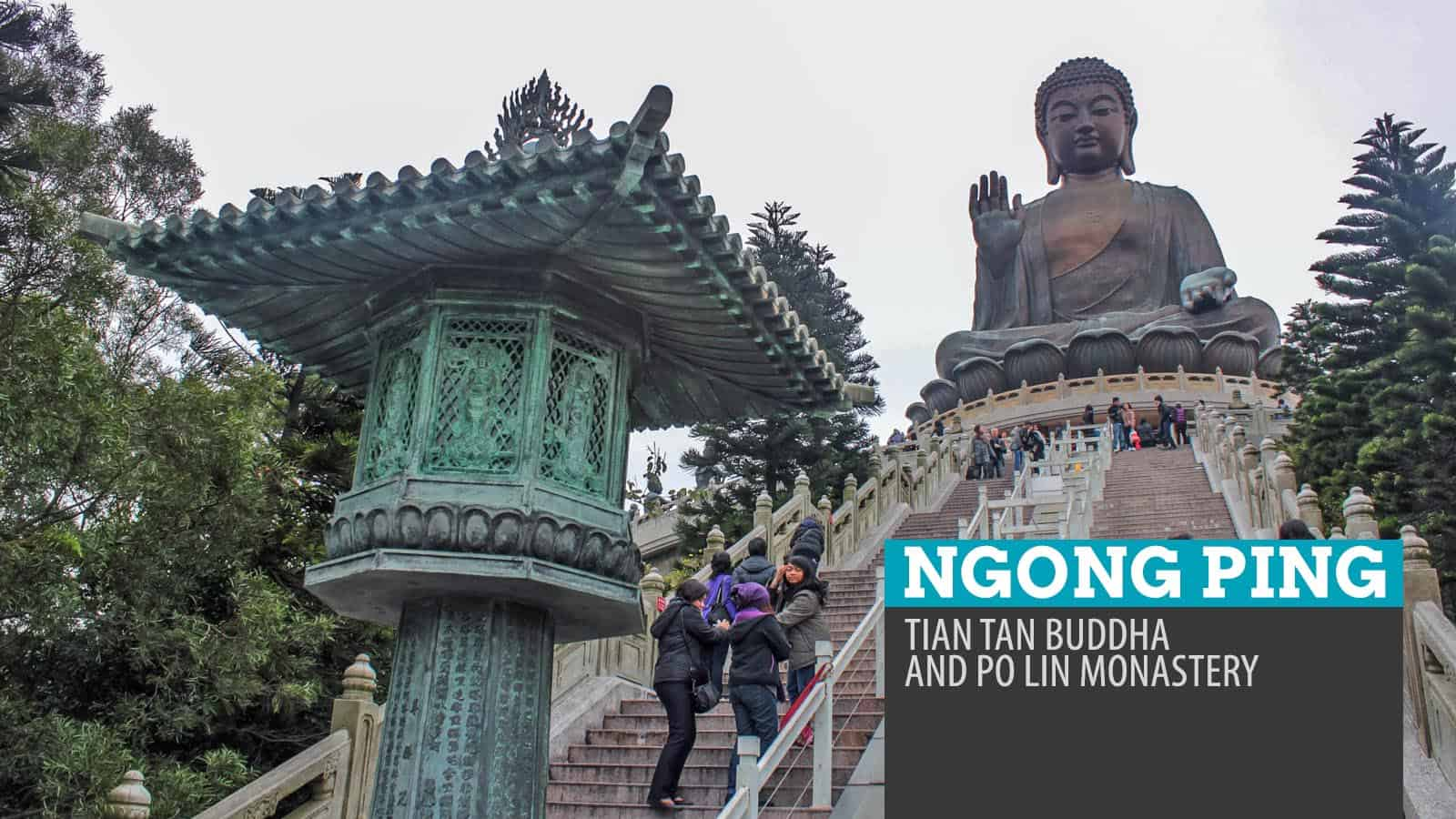 NGONG PING, HONG KONG: Tian Tan Buddha and Po Lin Monastery