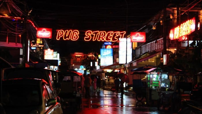 Pub Street and Angkor Night Market, Siem Reap, Cambodia