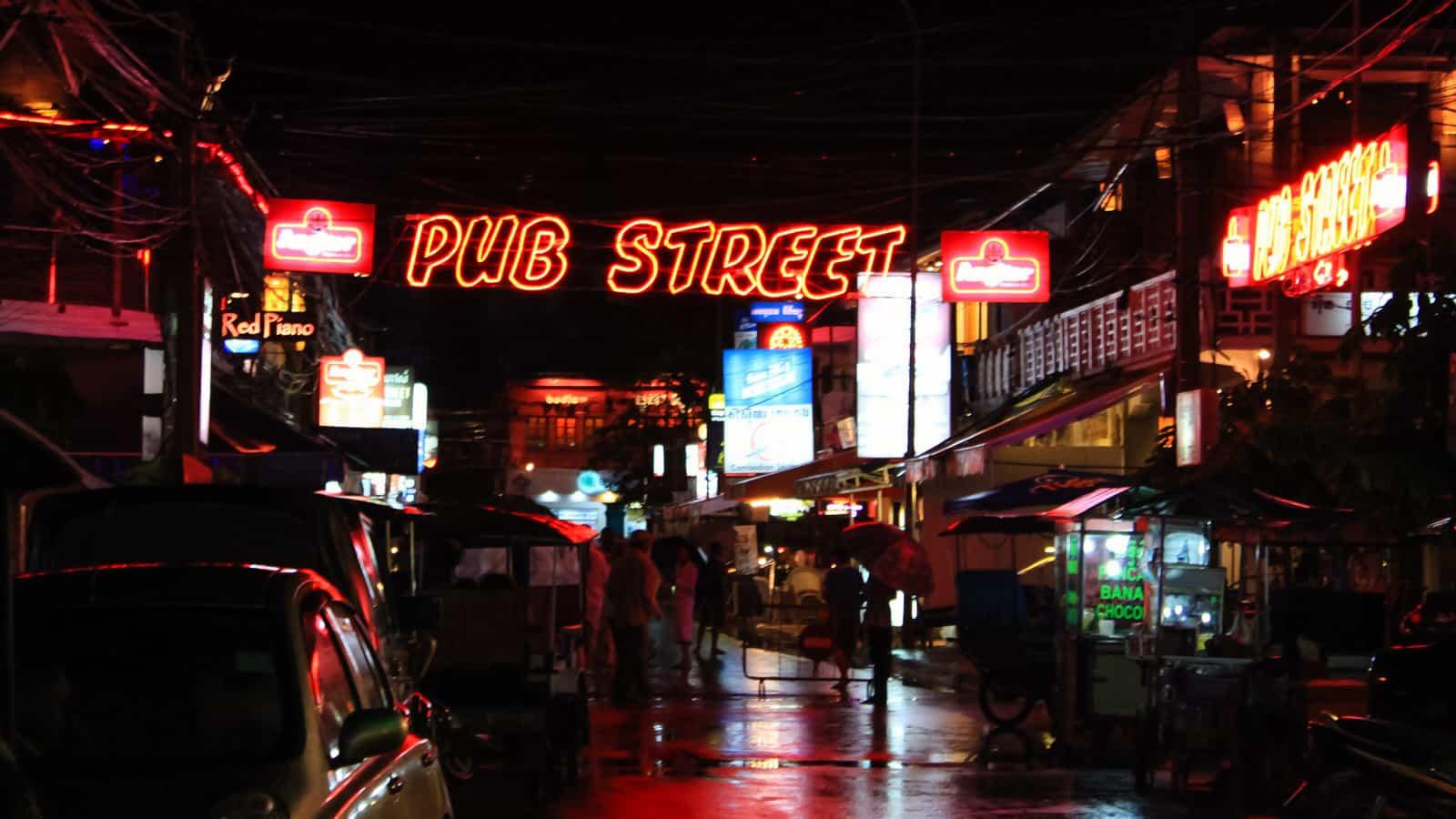 Pub Street and Angkor Night Market, Siem Reap, Cambodia