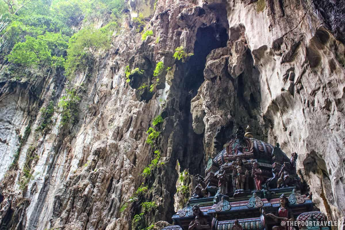 At the far end of Temple Cave