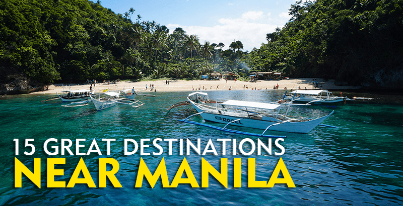 15 destinations near manila