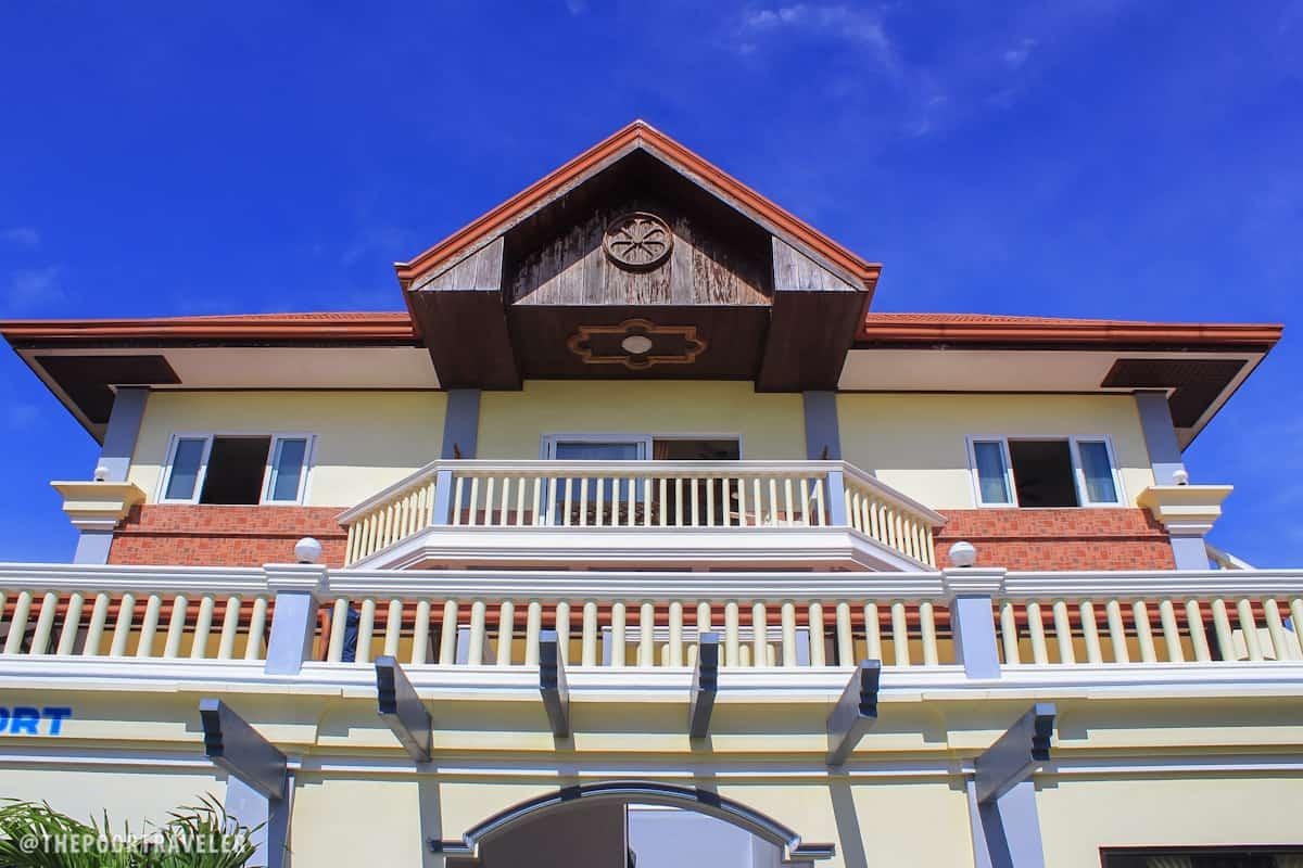 Facade of Biri Resort building