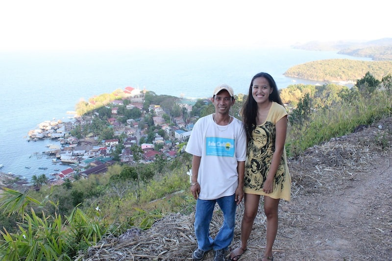Our local guide Kuya Toto and my friend Mica at Aguila Viewpoint