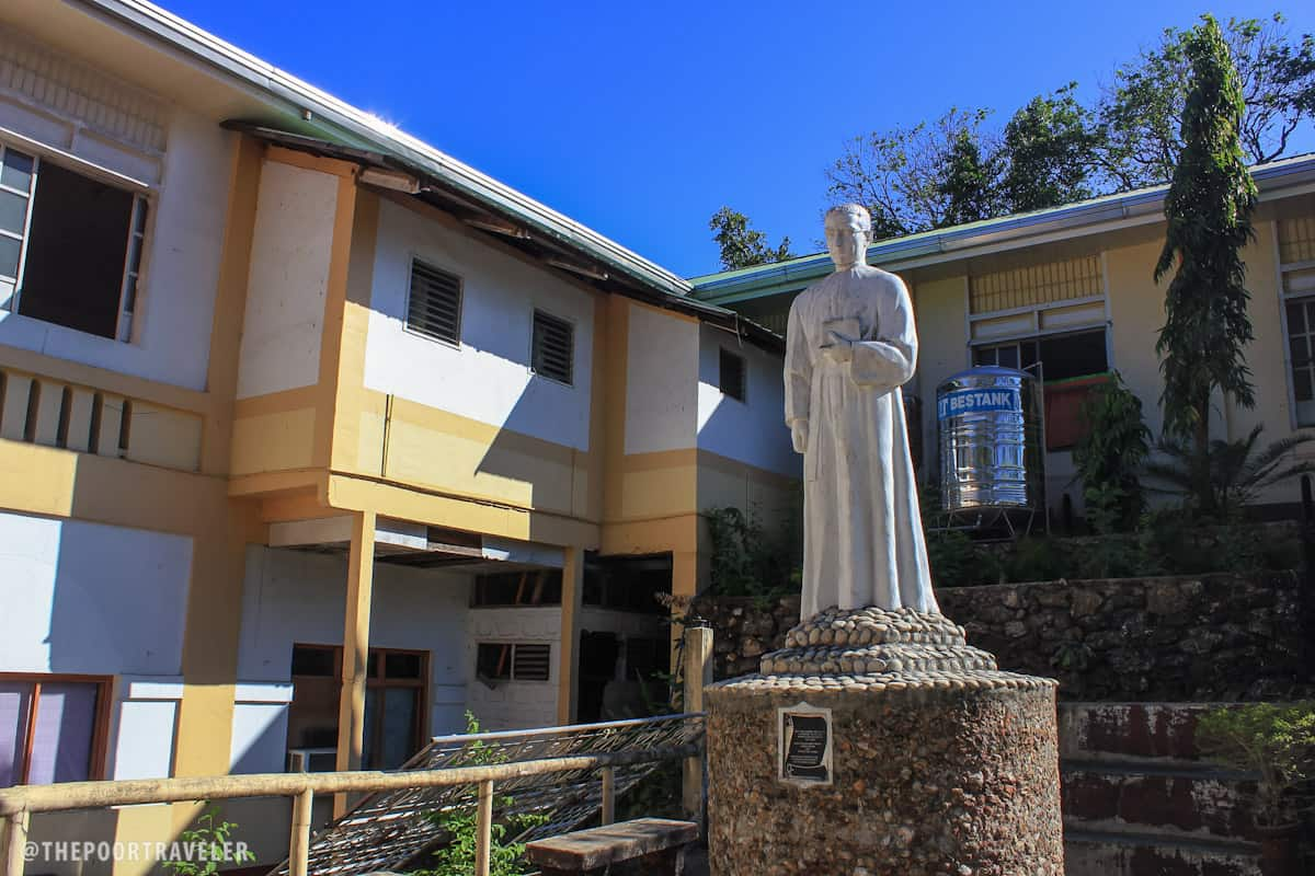Statue of Rev. Fr. Felipe Milan, SJ, inside the Culion Sanitarium and General Hospital Complex. He was born in Spain in 1898 but he died serving in the Colony in 1926.