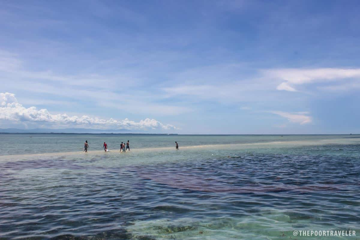Pandanon Island sandbar