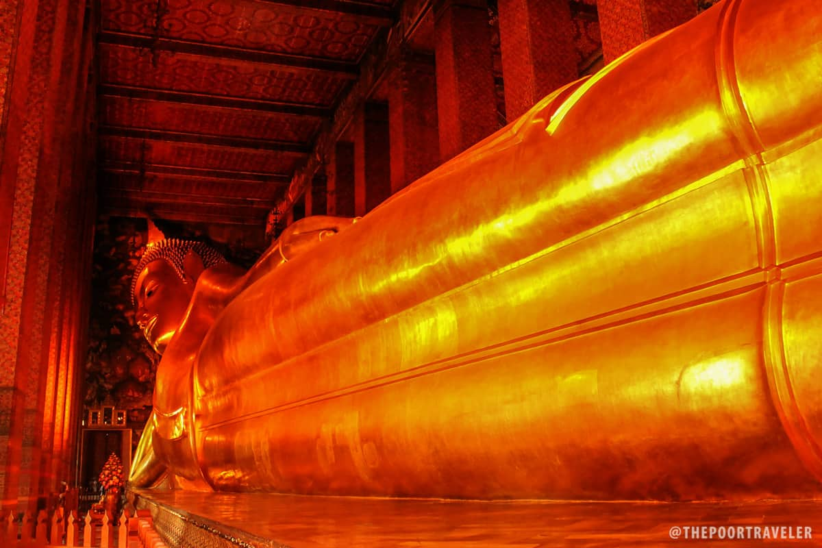 The gigantic reclining Buddha