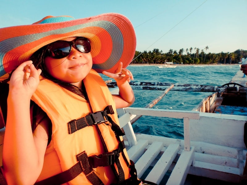 My pamangkin in a wide brim sun hat