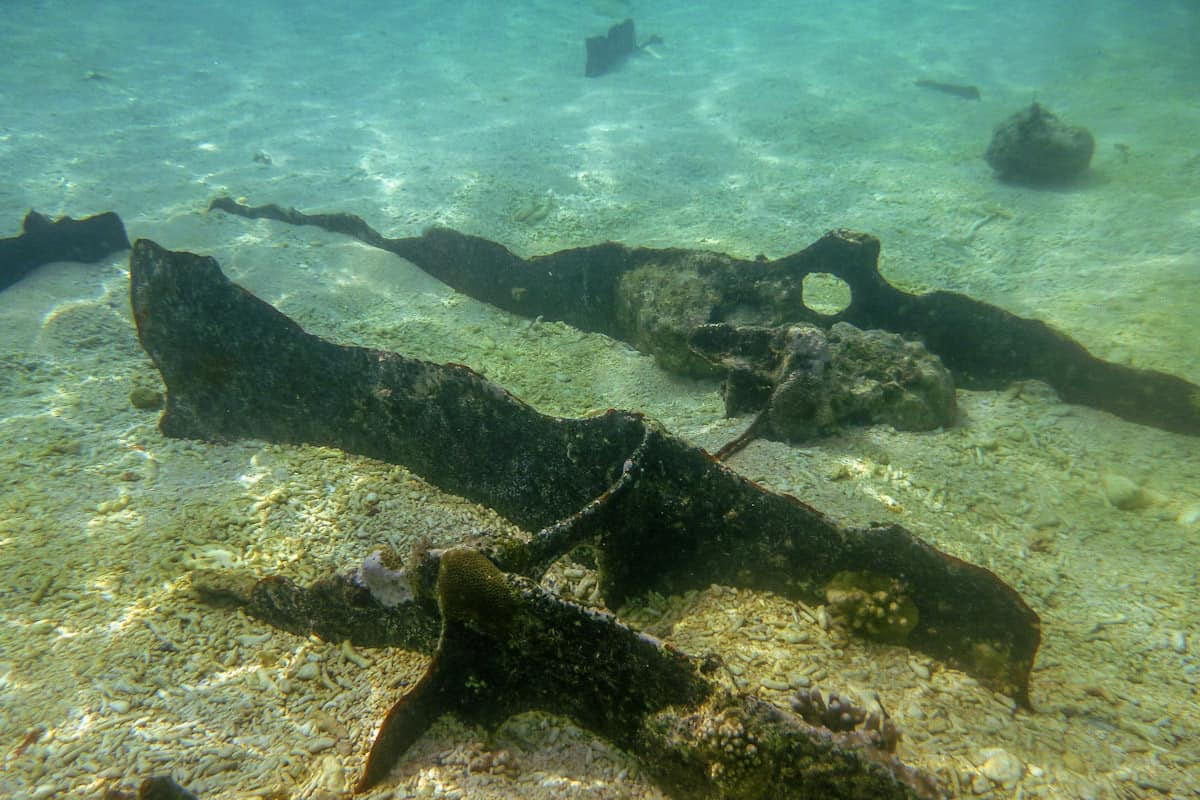 Part of the ship that sank near Black Island