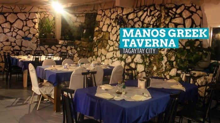 Manos Greek Taverna: Where to Eat in Tagaytay City, Philippines