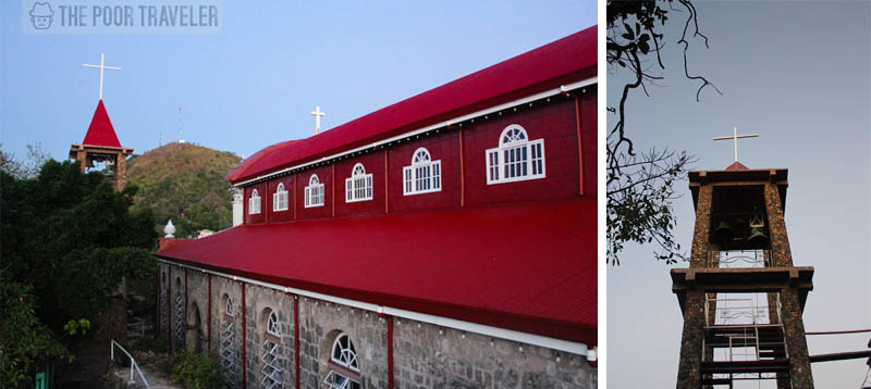 The crimson roofs of Culion Church and the naked belfry