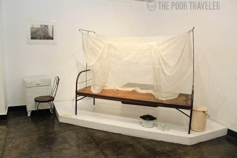 A patient's bed