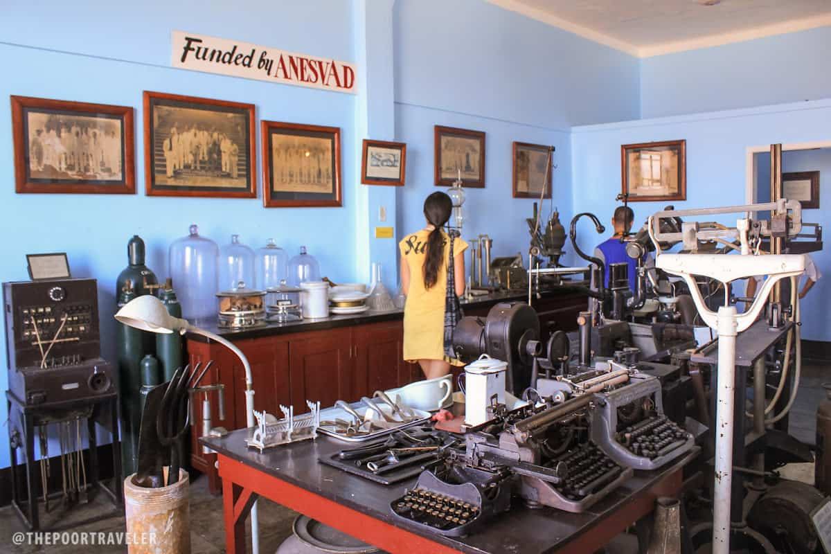 Some of the laboratory items used by physicians and scientists
