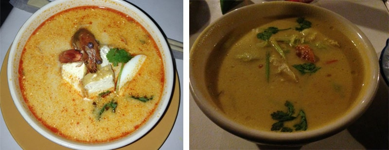 Laksa and Tom Kha gai