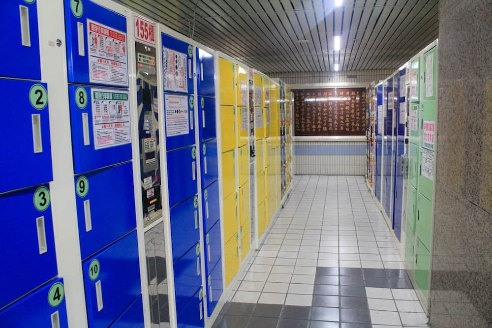 Lockers at Taipei train station