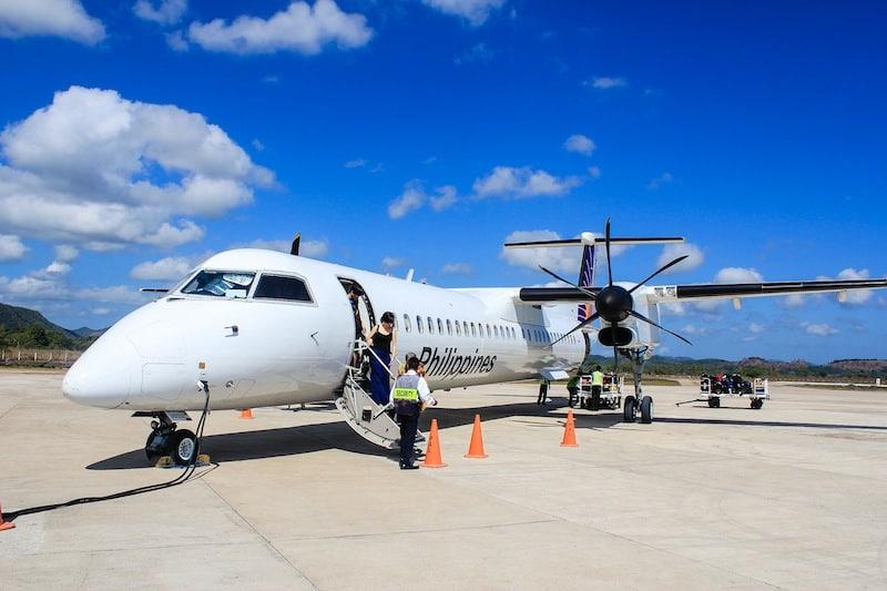 PAL Express plane at Busuanga (Coron) Airport