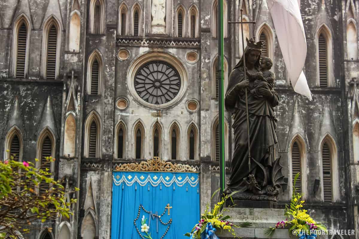 Regina Pacis in front of St. Joseph Cathedral