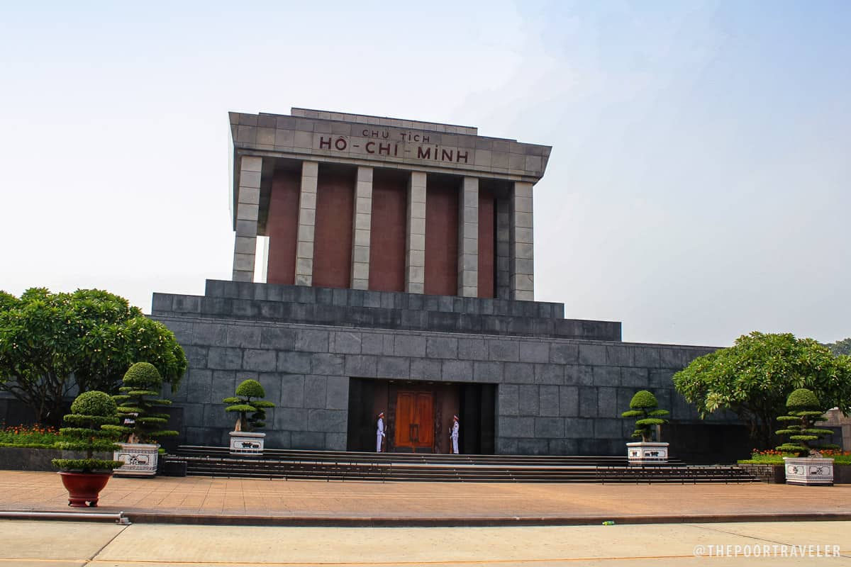 Ho Chi Minh Mausoleum is modeled after Lenin's in Russia