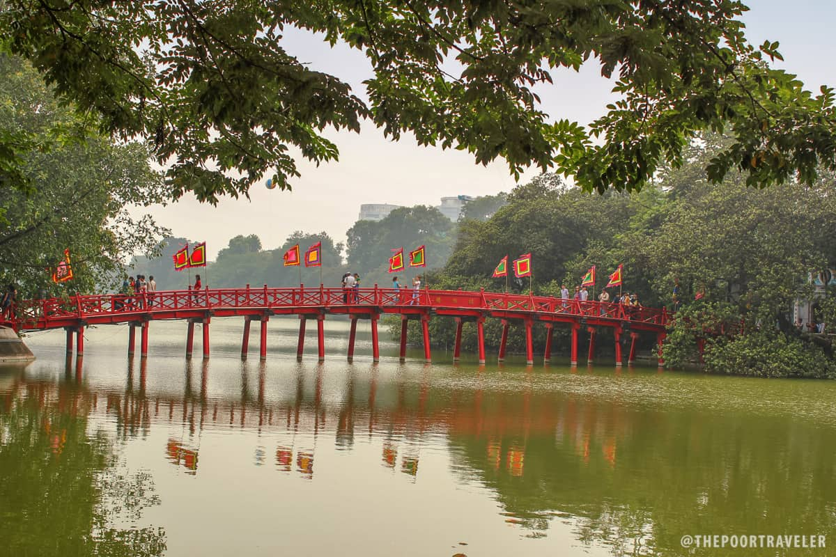The Huc Bridge and the Ngoc Son Temple