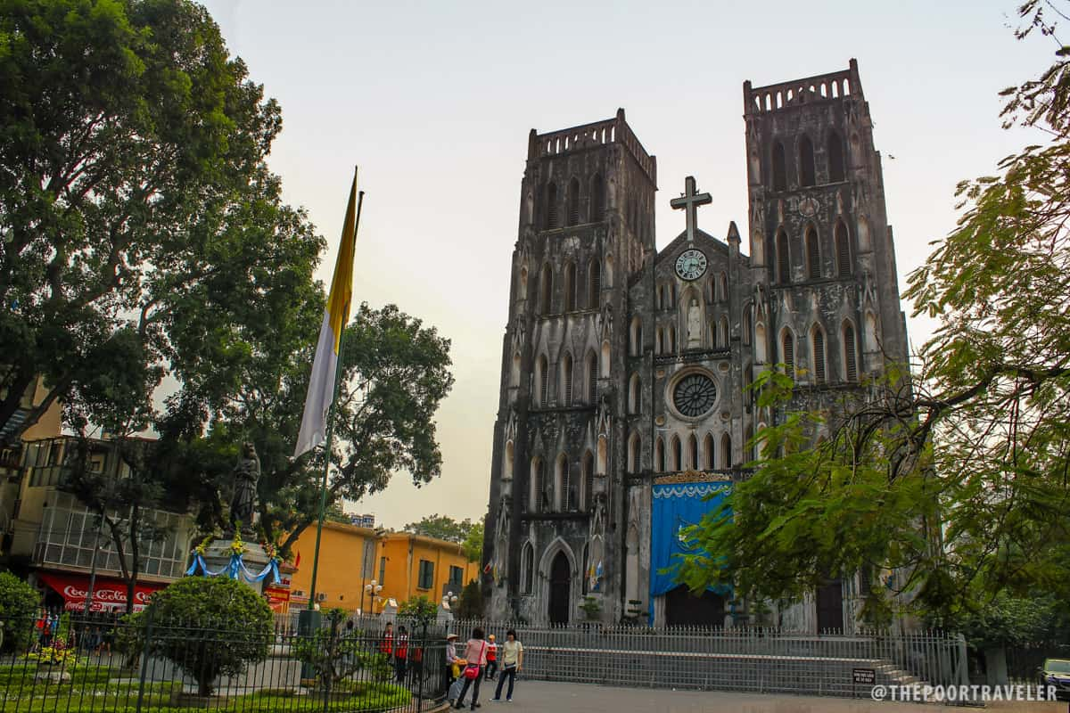 The Gothic Revival architecture of St. Joseph's Cathedral in Hanoi