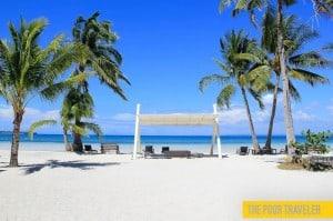 Anika Resort's beachfront shade