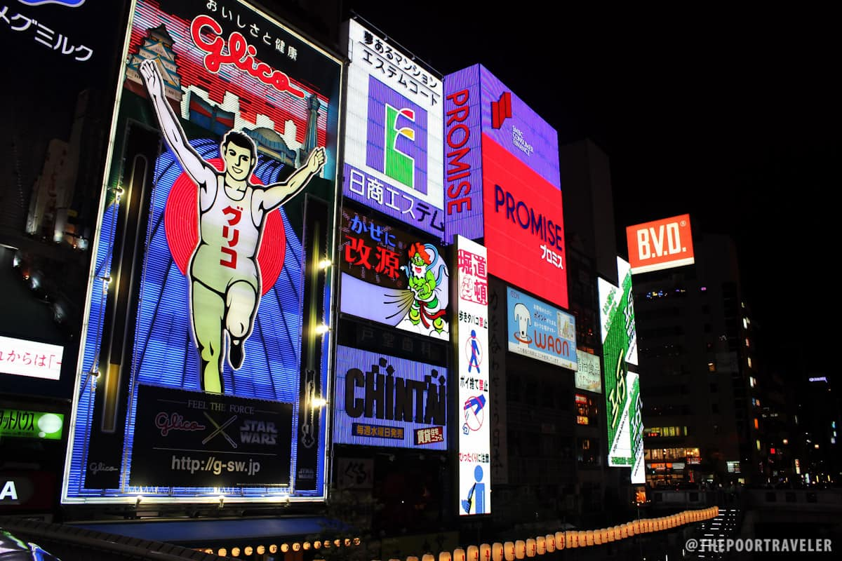 The iconic Glico Man seen from the Bridge